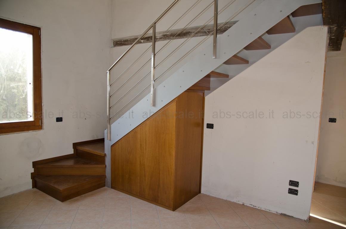 Abs scale scala interna a fasce laterali portanti con ripostiglio nel sottoscala - Soluzioni per chiudere scale interne ...