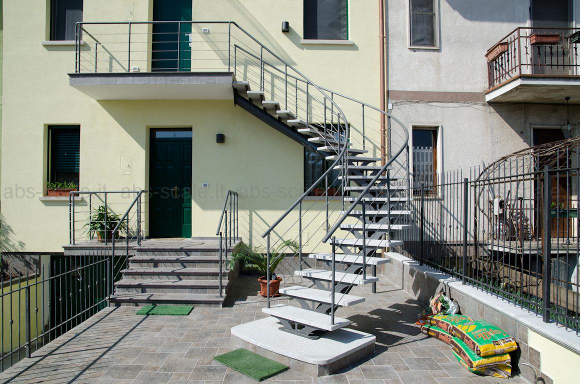 Abs scale scala esterna curvilinea a monotrave centrale - Gradini in cemento per esterno ...