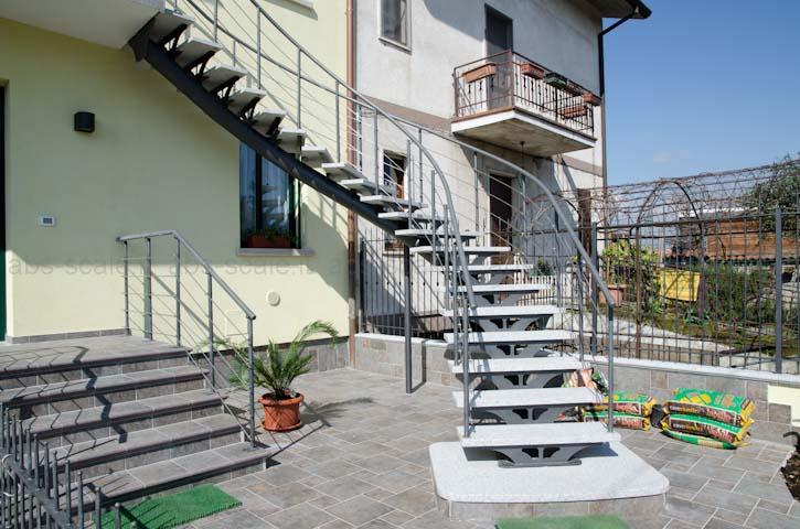 Abs scale scala esterna curvilinea a monotrave centrale - Foto di scale ...