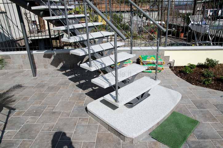 Abs scale scala esterna curvilinea a monotrave centrale portante a sezione circolare - Scale in ferro per esterno ...