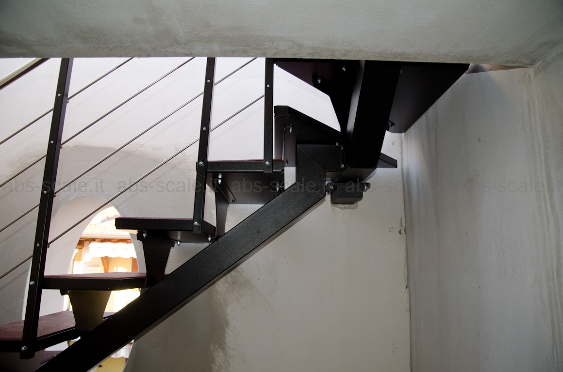 Design Scala disegno : ABS scale - Scala esterna a monotrave centrale portante a sezione ...