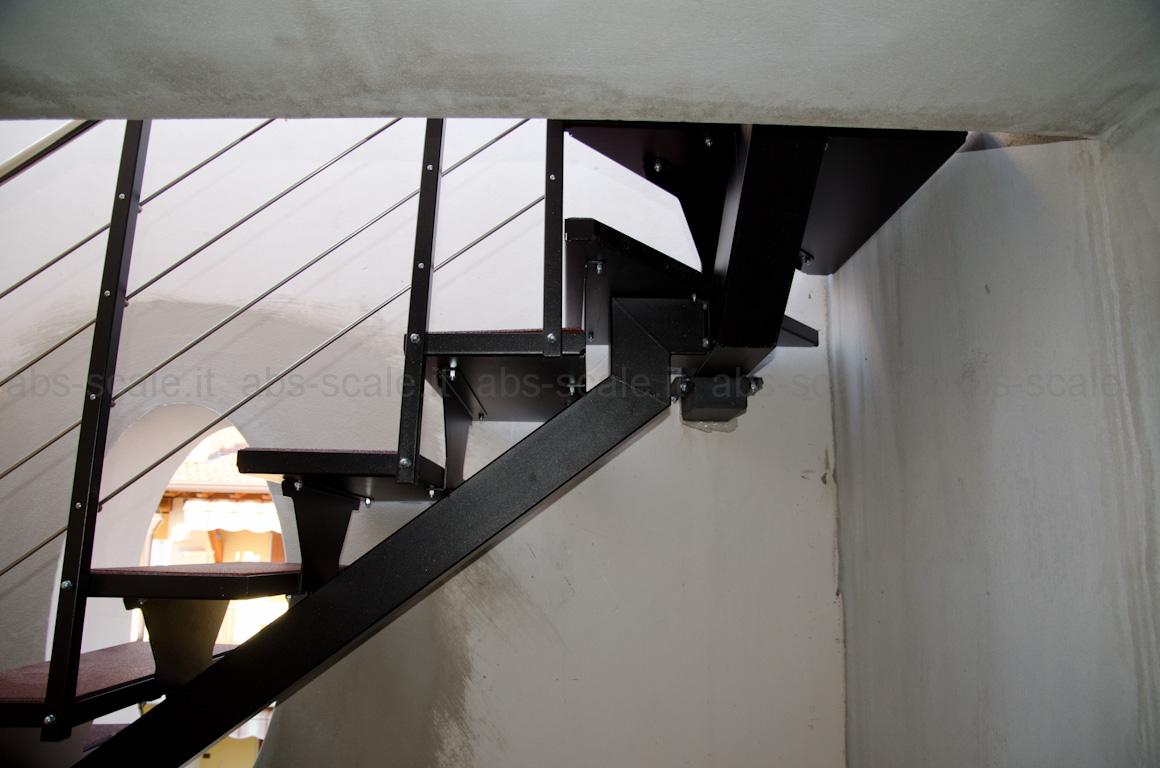 Abs scale scala esterna a monotrave centrale portante a sezione quadrata e pedata in gomma - Apertura solaio per scala interna ...