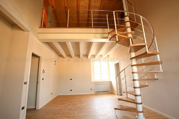 Abs scale scala a chiocciola moderna a pianta tonda con - Cancelletti per scale a chiocciola ...