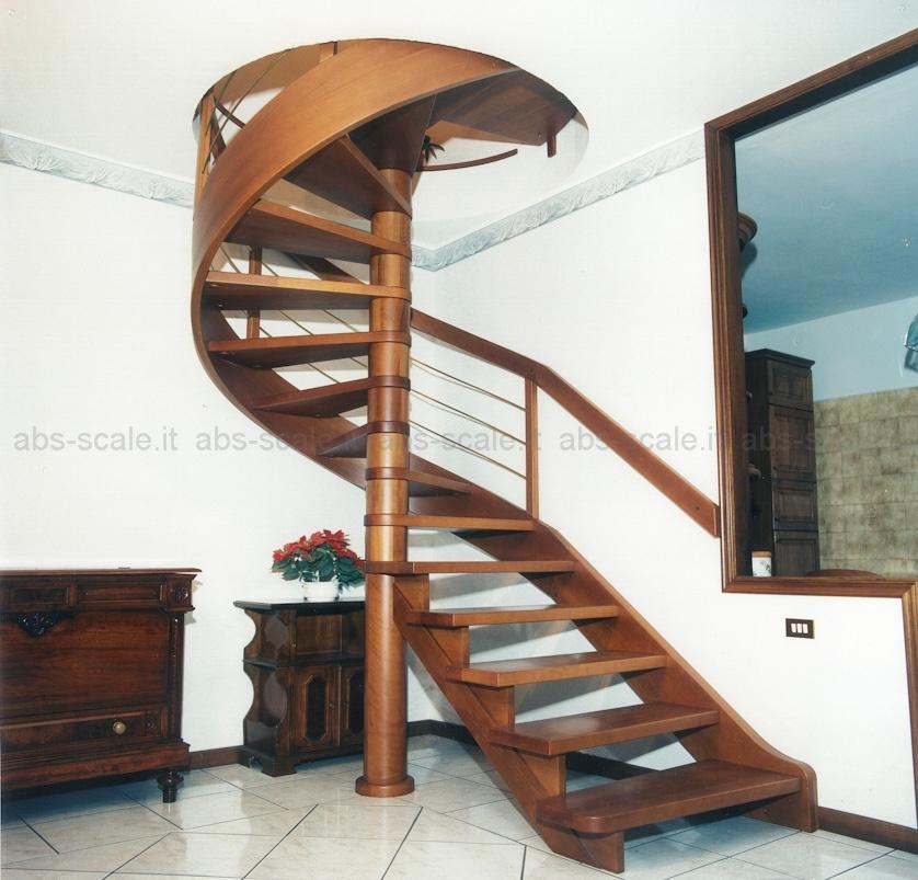 Abs scale scala in legno a chiocciola a pianta tonda con for Schemi di scala a chiocciola