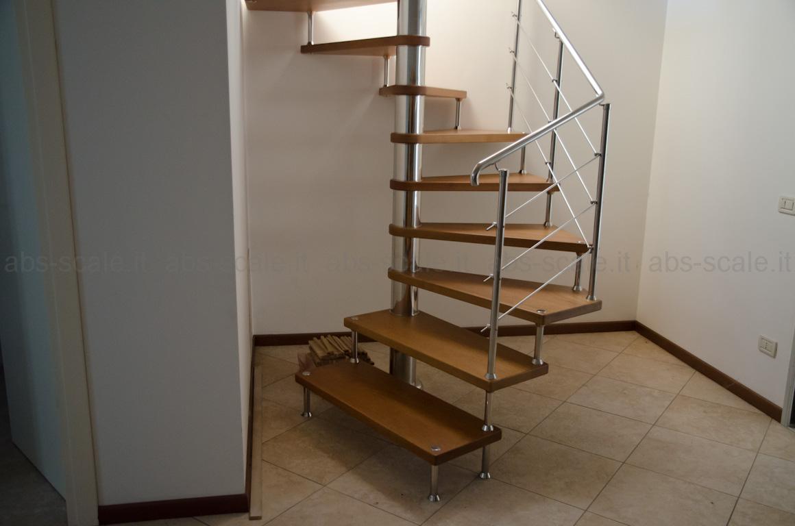 Abs scale scala in acciaio inox moderna a chiocciola a for Sala di piani quadrati a chiocciola