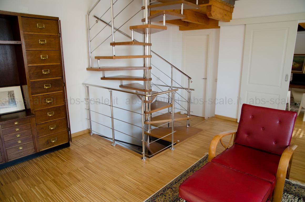Abs scale scala in acciaio inox moderna a chiocciola a - Scale a chiocciola a pianta quadrata ...