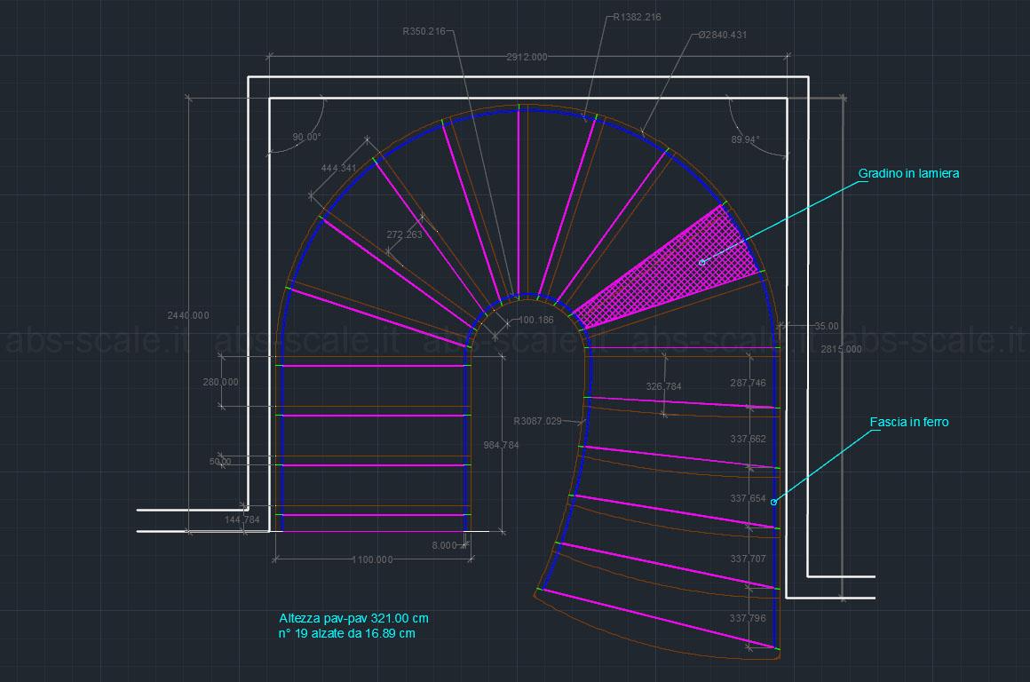 Abs scale scala elicoidale interna di classe for Scale in pianta