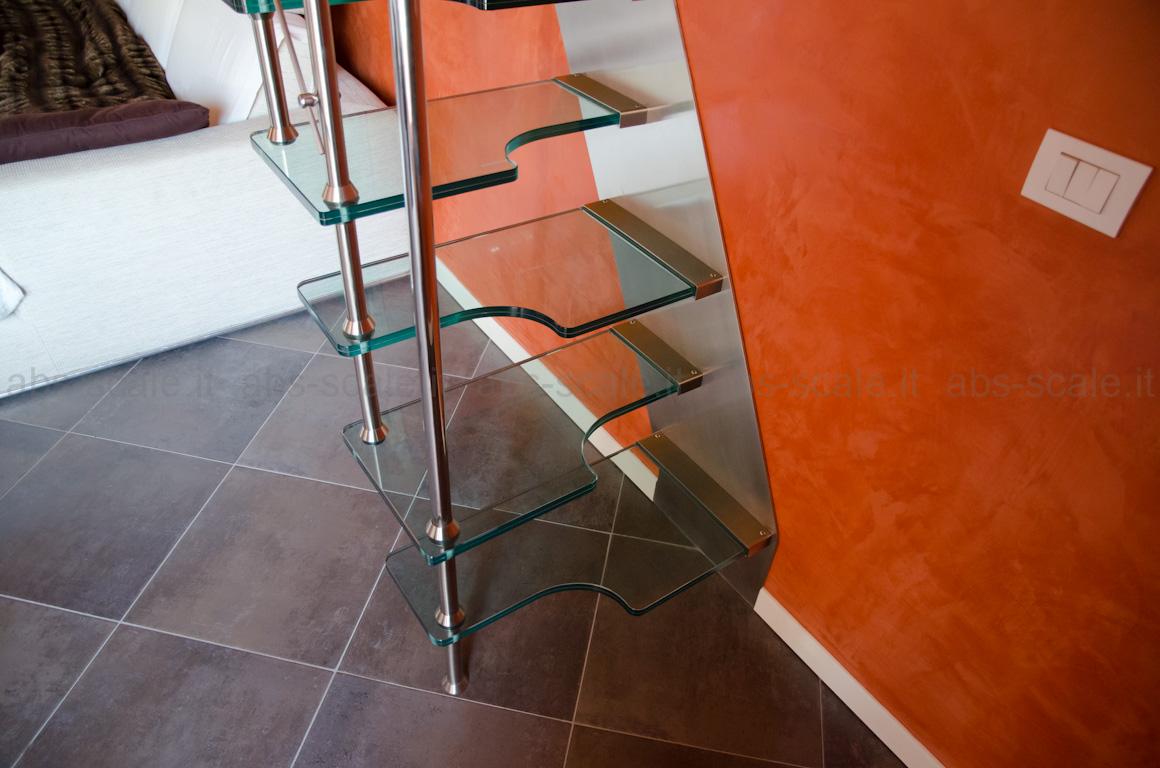 Abs scale scala in acciaio inox moderna a sbalzo a for Rivestire una scala in legno