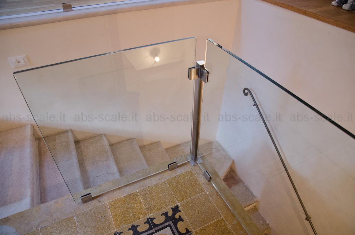 ABS scale - Barriera in cristallo con supporti in acciaio inox