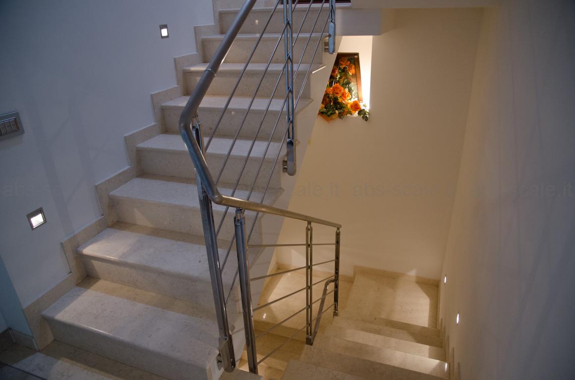 Abs scale ringhiera interna in acciaio inox - Immagini scale interne moderne ...
